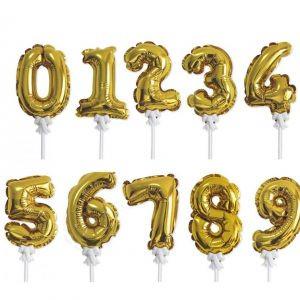 Kis szám formájú és kiegészítő lufik (Levegős)