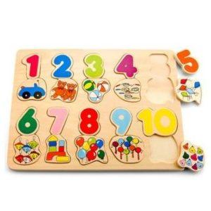 Fa puzzle, kirakó