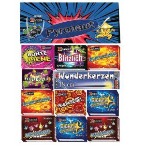 Tűzijáték mix, egész évben vásárolható, felhasználható