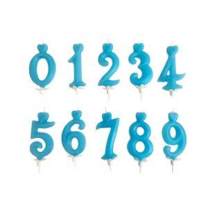 Kék számgyertyák